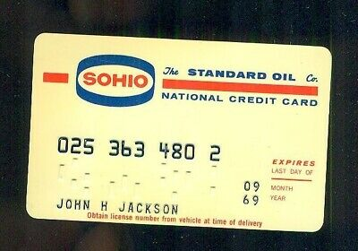 1966 SOHIO The Standard Oil Company National Credit Card Expires September 1969