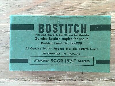 """BOSTITCH Vintage Box of Industrial Staples  SCCR 19 1/4""""  Approx 5000 (1/2"""")"""