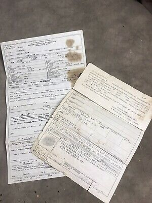 VINTAGE 1940's MILITARY HONORABLE DISCHARGE PAPERWORK
