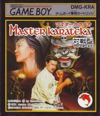 Nintendo GameBoy game - Master Karateka JAPAN cartridge