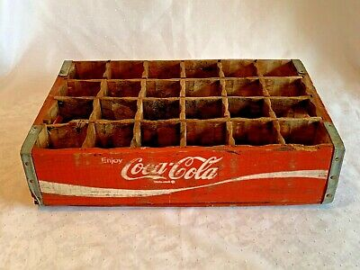 Vintage COCA COLA Wood Crate 24 Bottle Carrier 1970 PHOENIX Carved Dividers