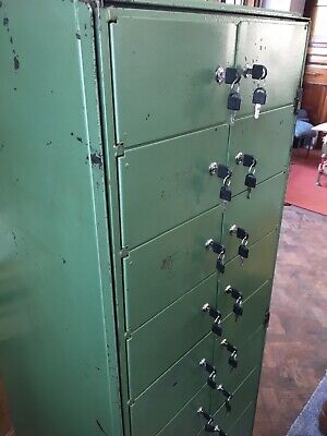 Vintage Industrial Furniture Mid-Century 20 Lockable Pigeon Hole Unit