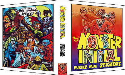 MONSTER INITIAL Custom 3-Ring Binder Album for 1973 Trading Card Stickers