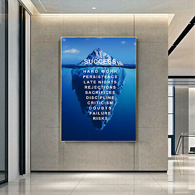 """ICEBERG Global Warming Success Motivation Office Home Wall Decor 24""""x36"""" POSTER"""