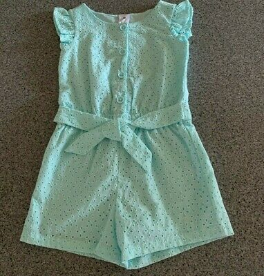 Girls size 5  Green lined playsuit  jumpsuit jump play suit BRODERIE Target NEW