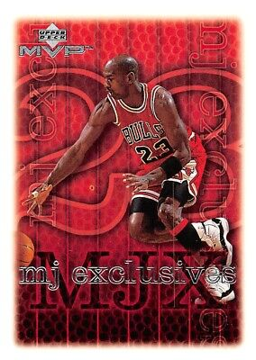 1999-00 Upper Deck MVP MJ Exclusives Michael Jordan Singles Bulls - You Choose
