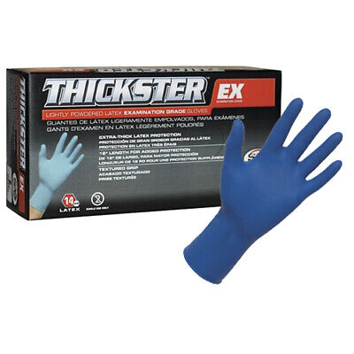 SAS Thickster UltraThick Latex Powdered Disposable Gloves, Large (50/Pack)
