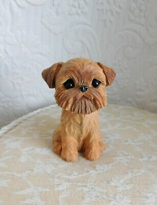 Brussels Griffon Mini Handmade WRC Resin Dog Collectible Sculptures by Raquel