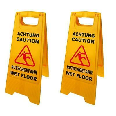 2 Piece Warning Sign Attention Danger of Slipping 58cm Smooth New