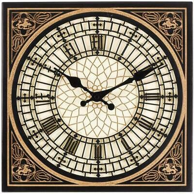 "Outdoor/Indoor Garden Wall Clock 12"" London's Little Big Ben Clock Face"