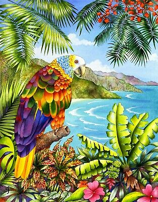 """Jigsaw Puzzle 300 Pieces Gold Edition """"Parrot in Paradise"""" by Wuundentoy"""