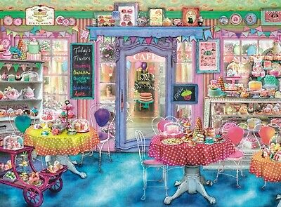 """Jigsaw Puzzle 500 Pieces Gold Edition """"My Favourite Cake Shop"""" by Wuundentoy"""