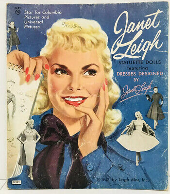 Original VintageJanet Leigh Paper Doll Dolls Book 1957 Lowe Columbia Pictures