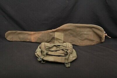 LOT 2x Korean War Era US Army Canvas M1 .30 Carbine Rifle Case Combat Field Pack