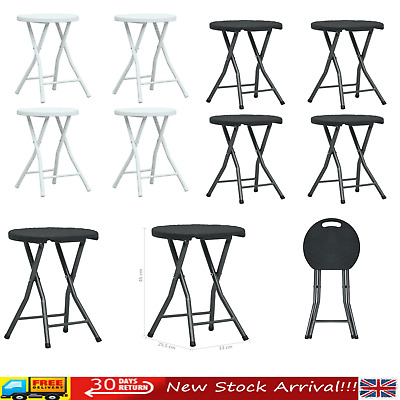 4 Pcs Folding Breakfast Bar Stool Foldable Plastic Chair Seat Event Garden Party