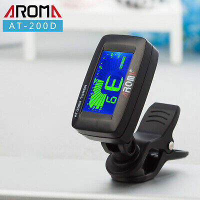Chromatic LCD Clip On Tuner For Electric Acoustic Guitar Bass Violin Ukulele