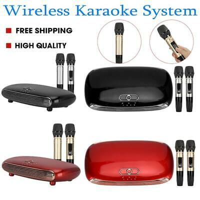 Smart Wireless Karaoke Box Mixer System USB HDMI with 2 Microphones for TV PC