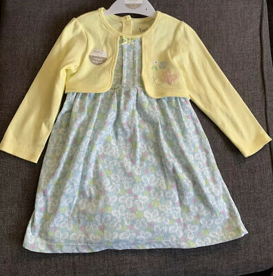 M&Co Baby Girls Dress Outfit Age 12 18 months Summer Party Butterflies New Gift