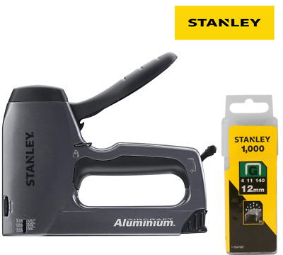 Stanley Heavy Duty Staple Brad Gun Metal Drive Hi/Lo Lever + 1000 Staples