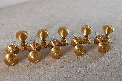 5 pairs of classic solid brass Victorian style beehive door knobs knob handle A1
