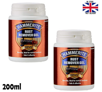 2x Hammerite Kurust Rust Remover Rust Killer Gel Treatment No Undercoat Required