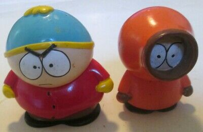 """SOUTH PARK LOT OF 2 CARTMAN & KENNY PVC Figure 2.25-2.5"""" , 1998 Fun For All"""