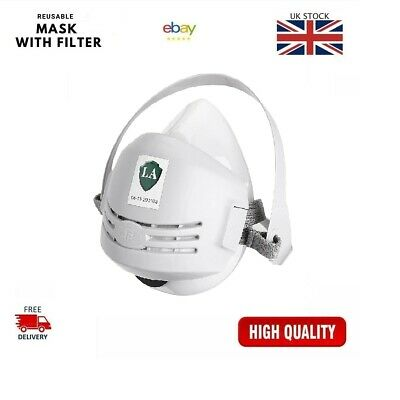 UK Chemical Reusable Anti-Dust Paint Respirator Safety Industrial Mask