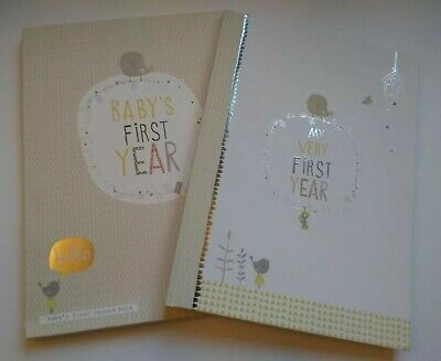 Baby Book My First Year Record Book Album In Cardboard Sleeve Pages Intact Used