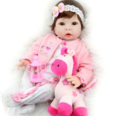 Realistic Baby Doll Lifelike Weighted Baby Reborn Girl Doll 22 Inch