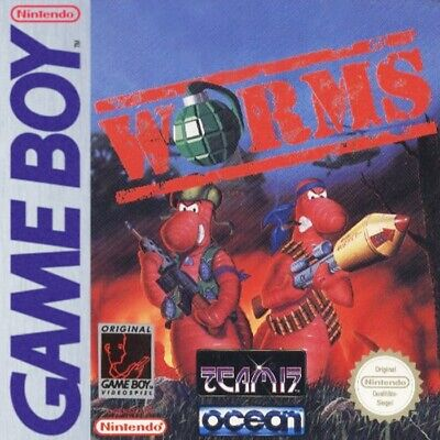 Nintendo GameBoy game - Worms cartridge