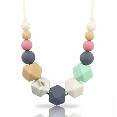 Silicone Teething Necklace for Babies Breastfeeding 100% BPA Free
