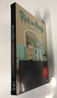 Rick and Morty: Complete Series Season 1-3 (DVD, 6-Disc Box Set) New & Sealed