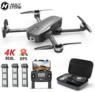 Holy Stone HS720 4K Drone with HD Camera GPS RC Quadcopter Brushless 3 Battery