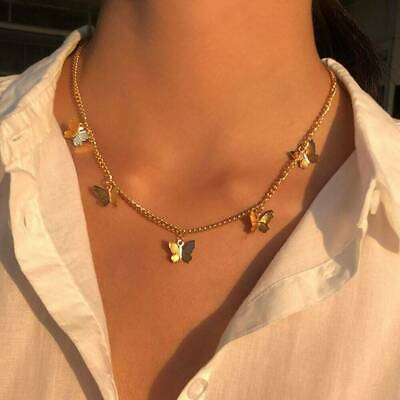 Butterfly Choker Necklace Clavicle Chain Statement Female Chocker Jewelry Gift