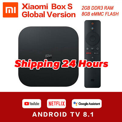 Xiaomi Mi TV Box S 4K HDR Android TV 8.1 Ultra WIFI Google Netflix Multimediale