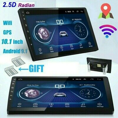 "Android 9.1 Mirror Link 10.1"" Car Stereo Radio GPS Navi 2Din Wifi FM MP5 Player"