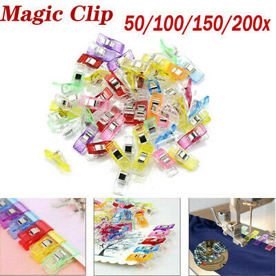 50/100/200X Wonder Clips For Fabric Quilting Craft Sewing Knitting Crochet DIY