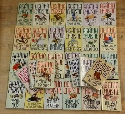 30 A COLLECTION OF FONTANA CRIMINAL BOOKS  by AGATHA CHRISTIE *FREE UK POST* PB