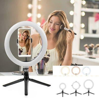 LED Ring Light Dimmable 5500K Lamp For Photography Camera Photo And Phone Video