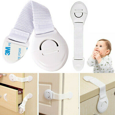 1-20 Pcs Baby Kid Safety Cupboard Drawer Lock Cabinet Fridge Door Child Security