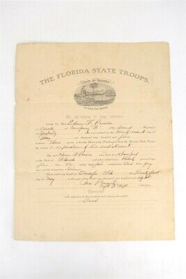 Antique 1908 Army Tampa Sanford Florida State Troops Honorable Discharge Papers