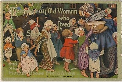 1913 ColgateToothpaste Children's Rhyme Book,Old Woman in Shoe Advertising