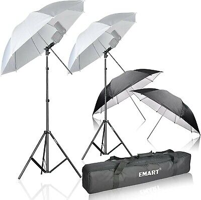 Emart Photo Studio Double Off Camera Speedlight Flash Umbrella Kit, Shoemount E