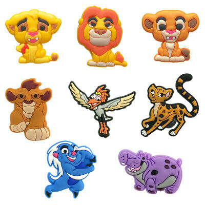 50pcs Lion King PVC Shoe Charms Buckles Decoration Action Figure Jibitz for Croc