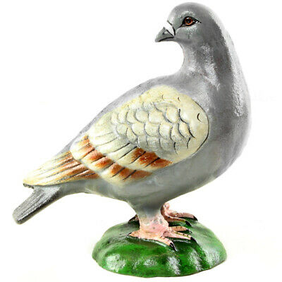 GUSSEISEN TAUBE, realistische FIGUR, CAST IRON SCULPTURE of a PIGEON, engl. DOVE
