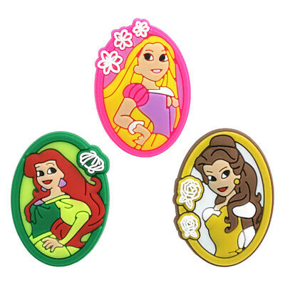 50pcs Cartoon Princess PVC Shoe Charms Buckles Decoration Jibitz for Croc Shoes