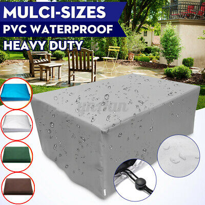 Outdoor Cover Garden Furniture Waterproof Patio Rattan Table Chair Cube Set Park