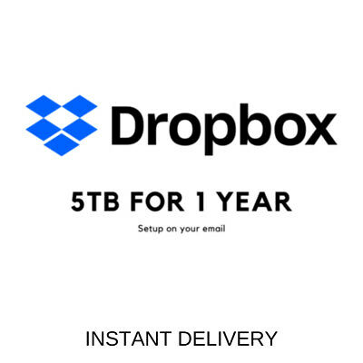 Dropbox 5 TB for 1 Year 🔥 INSTANT DELIVERY