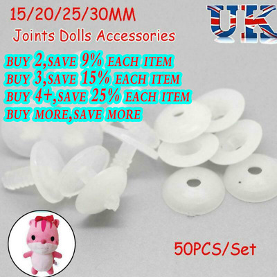 50sets Plastic Animal Joints for Dolls Soft Toys/Teddy Bear Making DIY Crafts A+