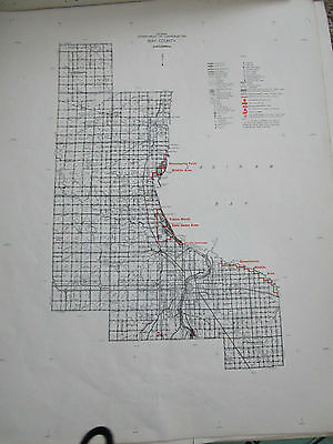 1964 BAY County MI CONSERVATION DNR  MAP